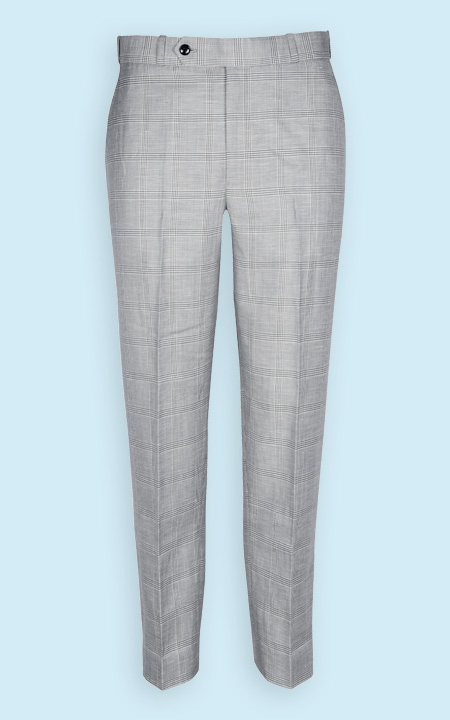 Oxford Linen Checks Custom Pants