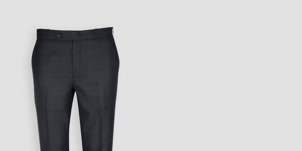 Newport Grey Checks Custom Pants- view-3