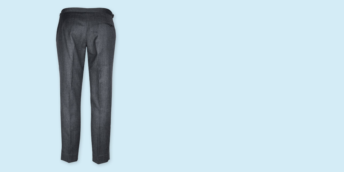 Highgate Grey Flannel Custom Pants- view-2
