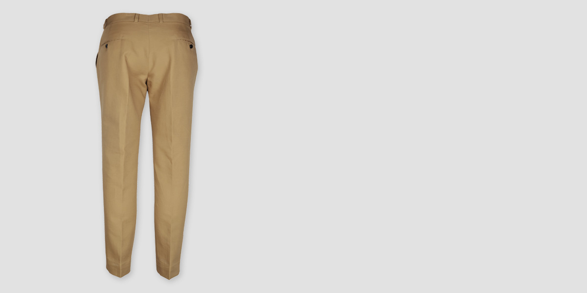English Khaki Custom Pants- view-2