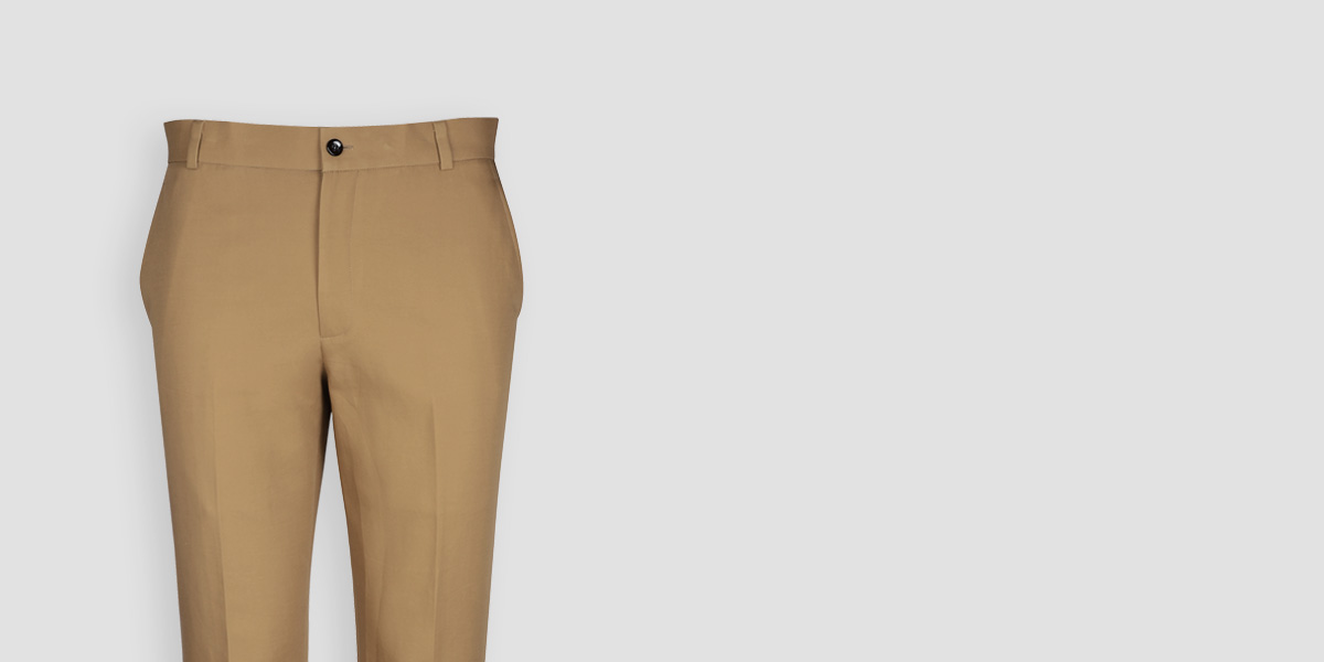 English Khaki Custom Pants- view-3