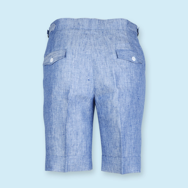 Cape May Slub Blue Linen Shorts-mbview-2