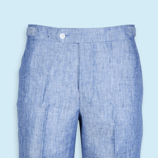 Cape May Slub Blue Linen Shorts-mbview-3
