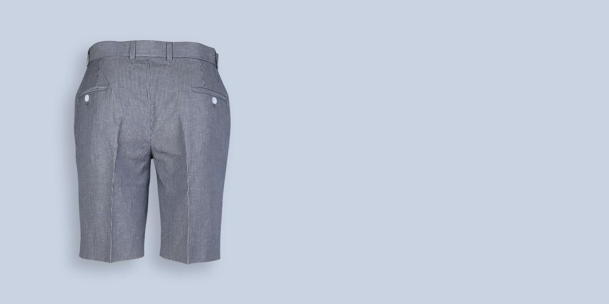 Coronado Grey Striped Shorts- view-2