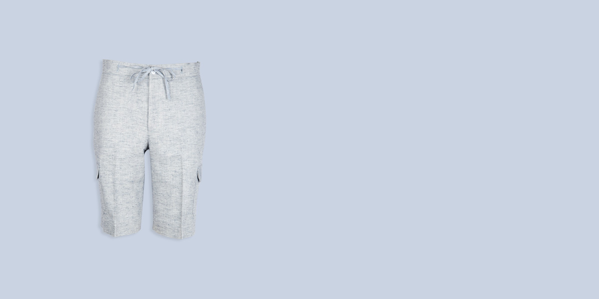 California Organic Jute Grey Shorts- view-1