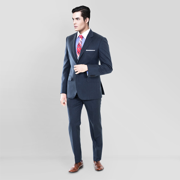 Blue Gray Herringbone Custom Suit-mbview-1