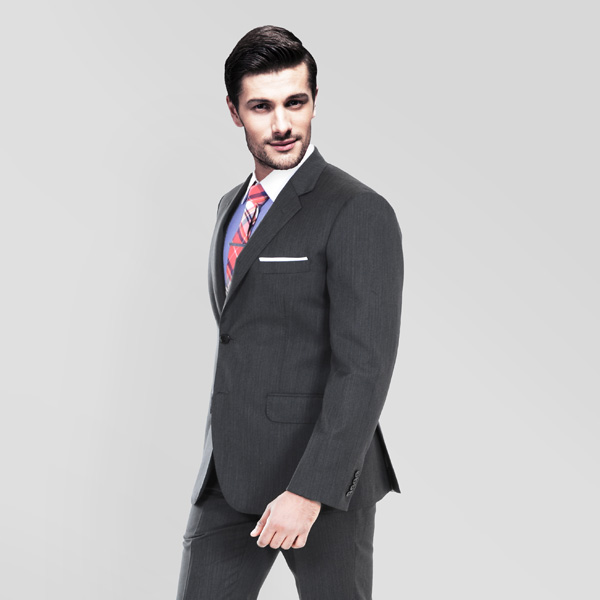 Charcoal Herringbone Custom Suit-mbview-2