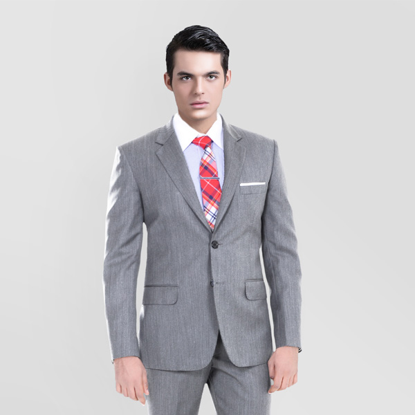 Gray Herringbone Custom Suit-mbview-2