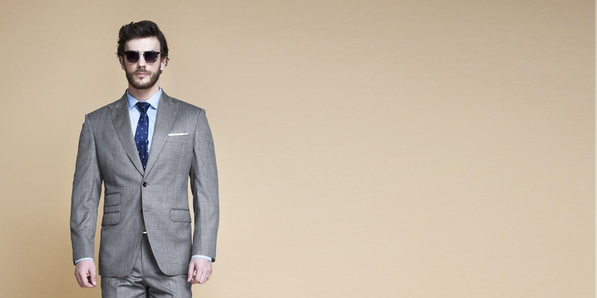 Milan Grey Nailhead Suit- view-3