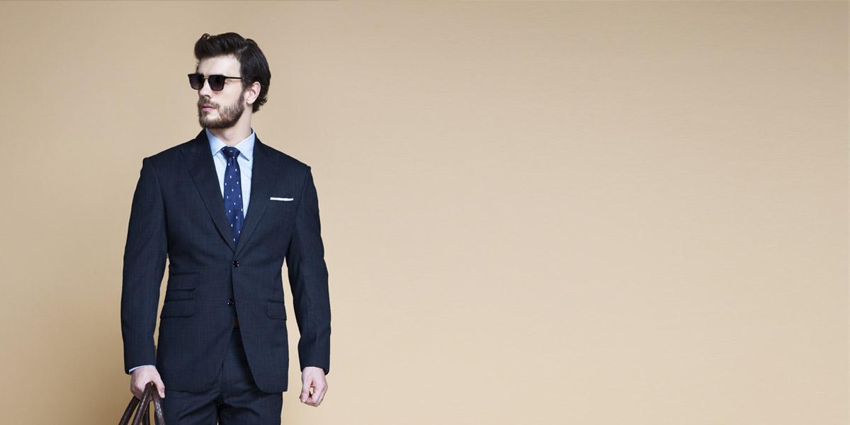 Lazio Houston Blue Nailhead Suit- view-3