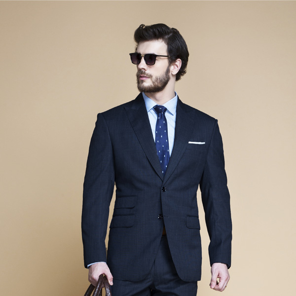 Lazio Houston Blue Nailhead Suit-mbview-3
