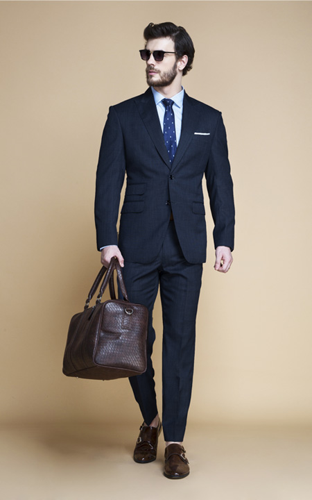 Lazio Houston Blue Nailhead Suit