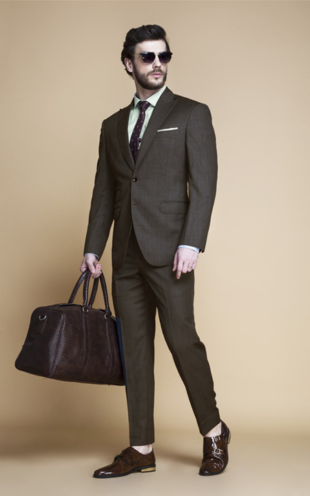 Wisconsin Brown Nailhead Suit