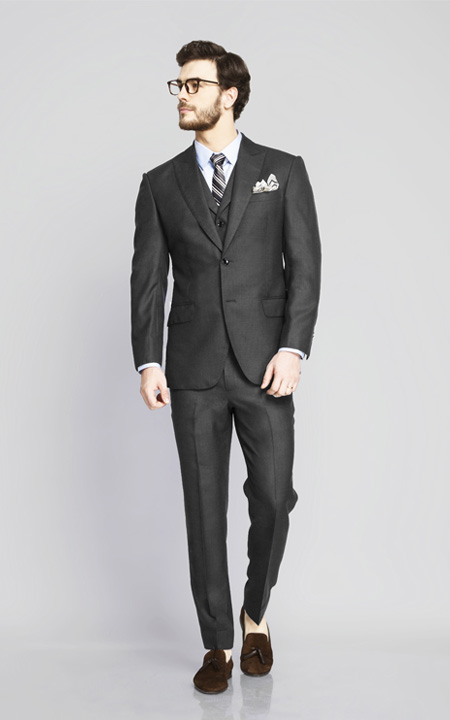 Chicago Charcoal Birdseye Suit