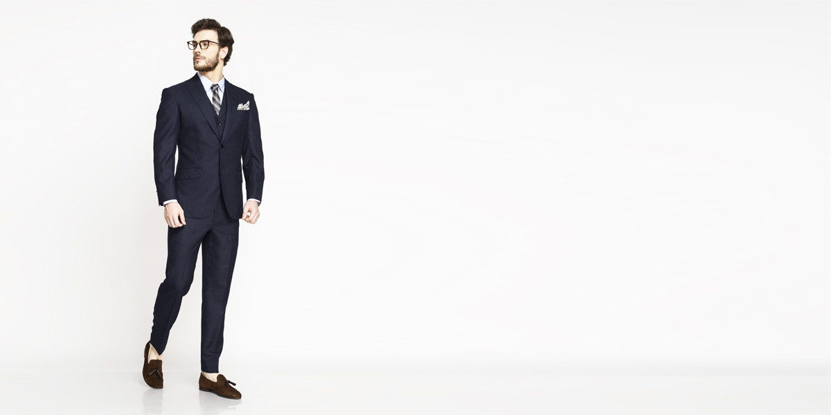 Moss Blue Birdseye Suit- view-1
