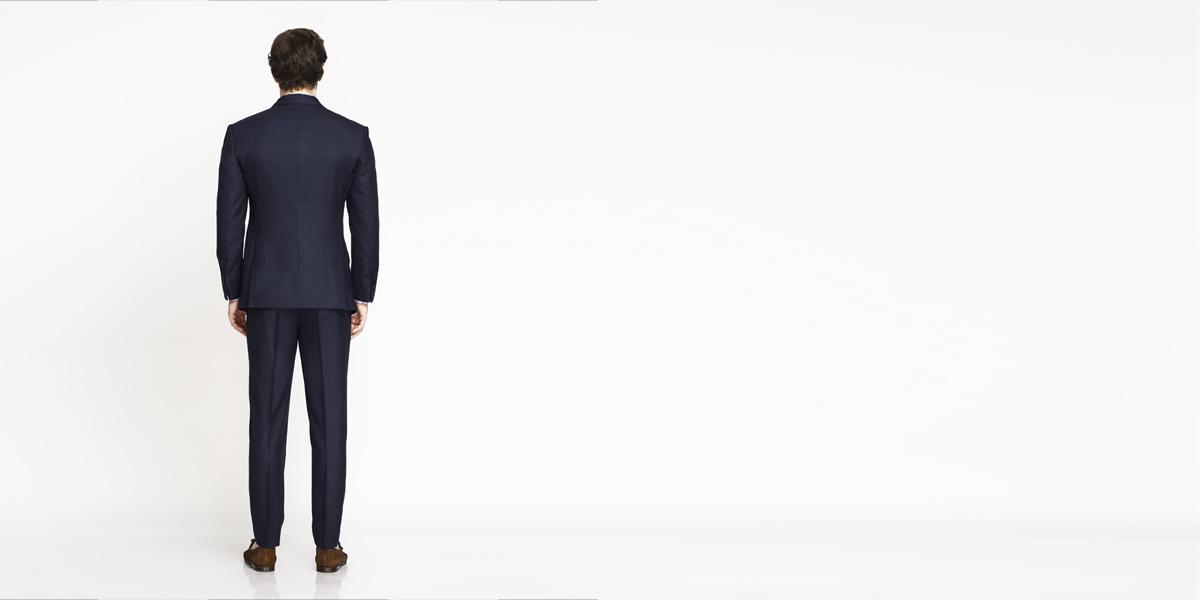 Moss Blue Birdseye Suit- view-2