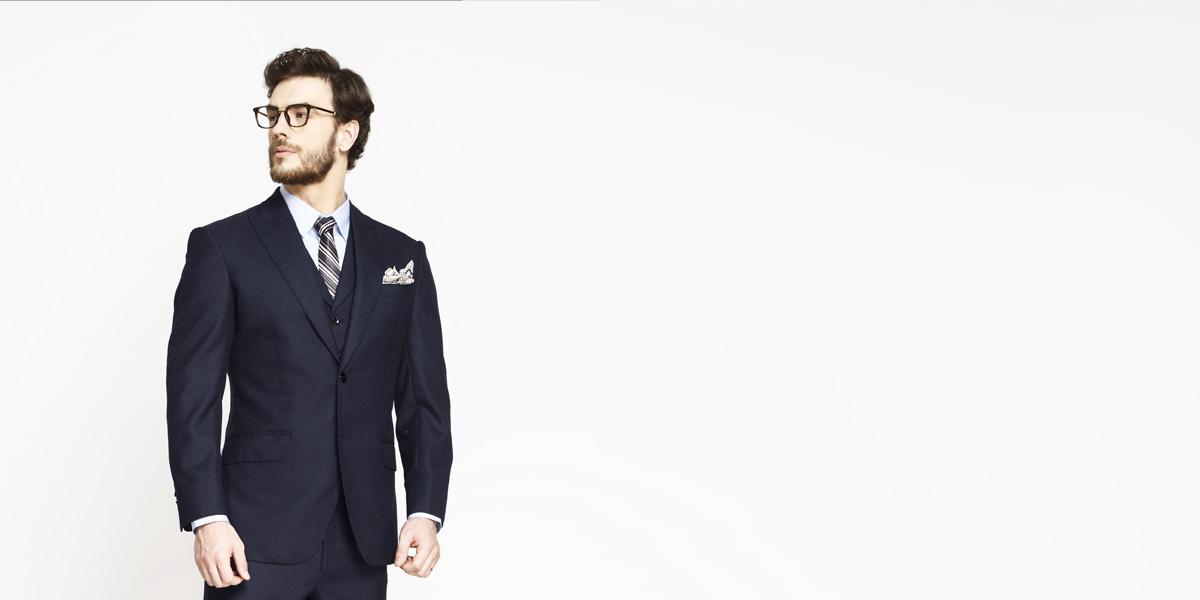 Moss Blue Birdseye Suit- view-3