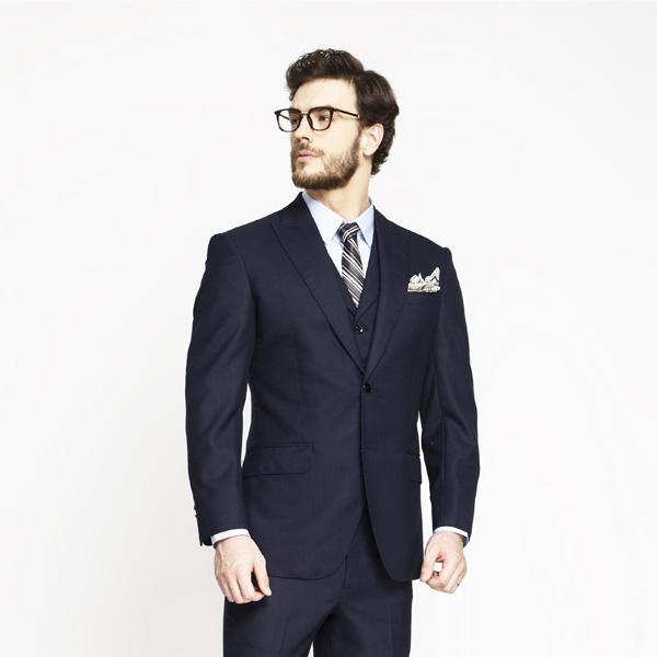 Moss Blue Birdseye Suit-mbview-3