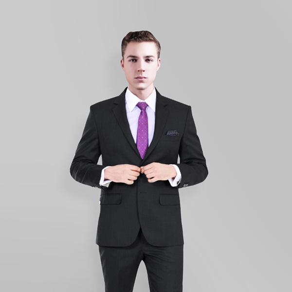 Charcoal Shark Custom Suit-mbview-2