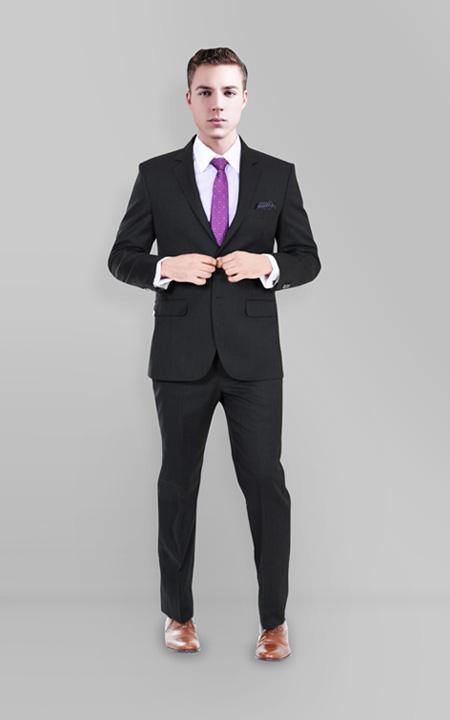 Charcoal Shark Custom Suit
