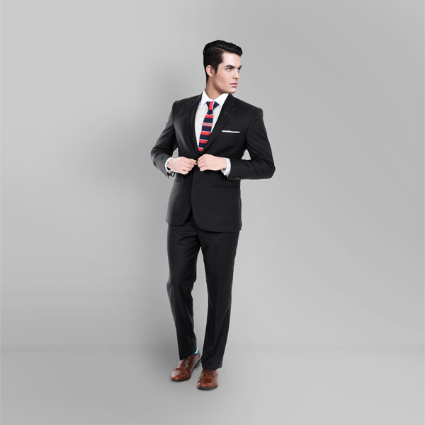 Black Classic Wool Custom Suit-mbview-1