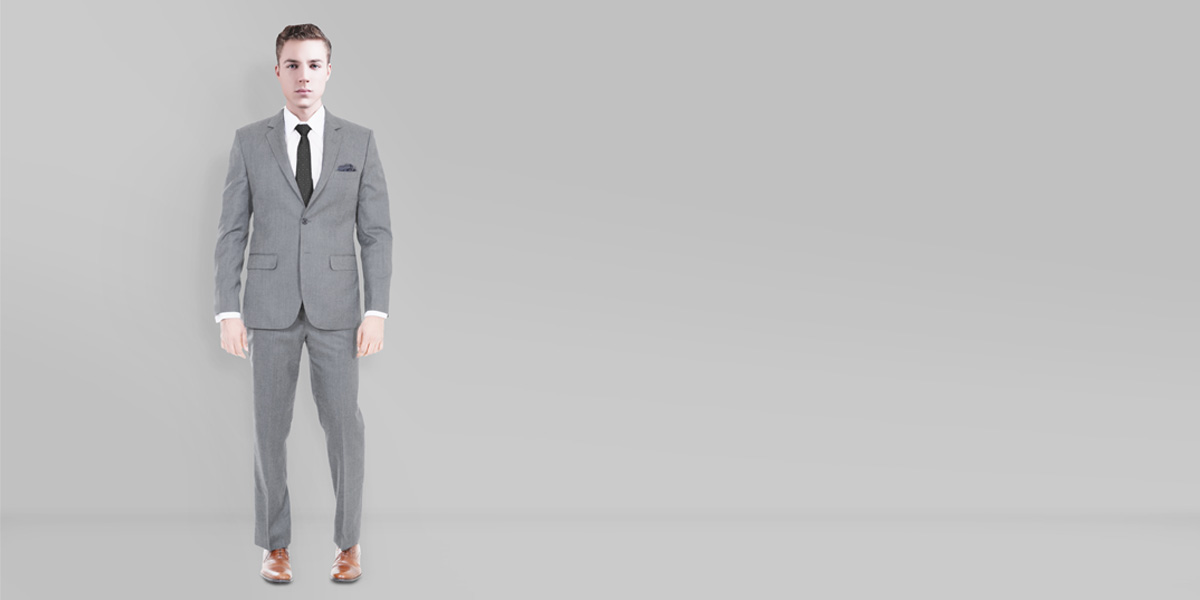 Gray Wool Custom Suit- view-1