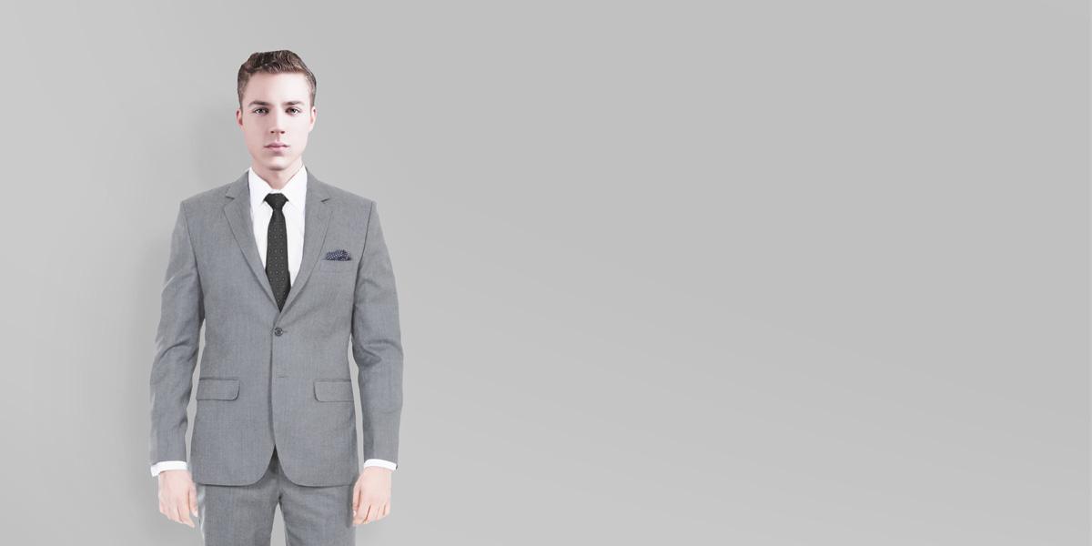 Gray Wool Custom Suit- view-2