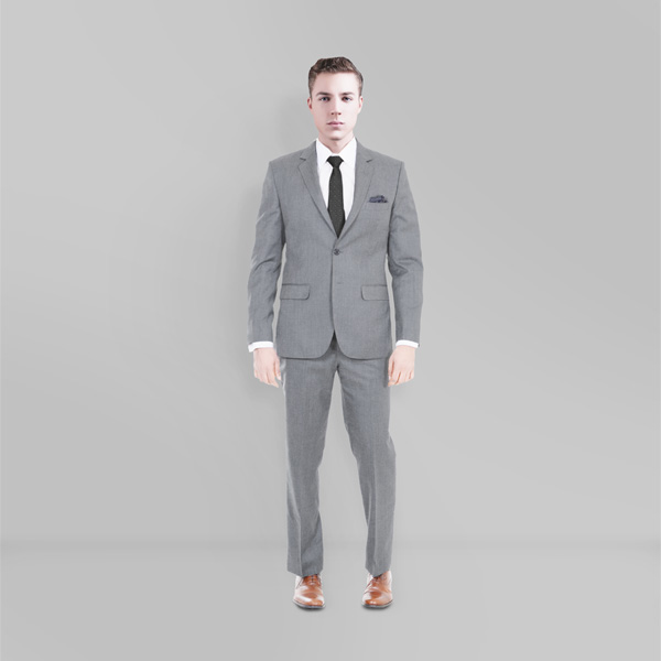 Gray Wool Custom Suit-mbview-1