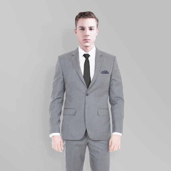 Gray Wool Custom Suit-mbview-2