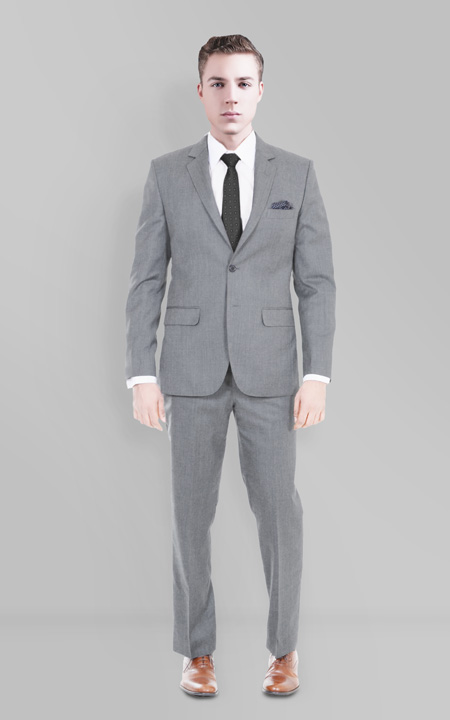 Gray Wool Custom Suit