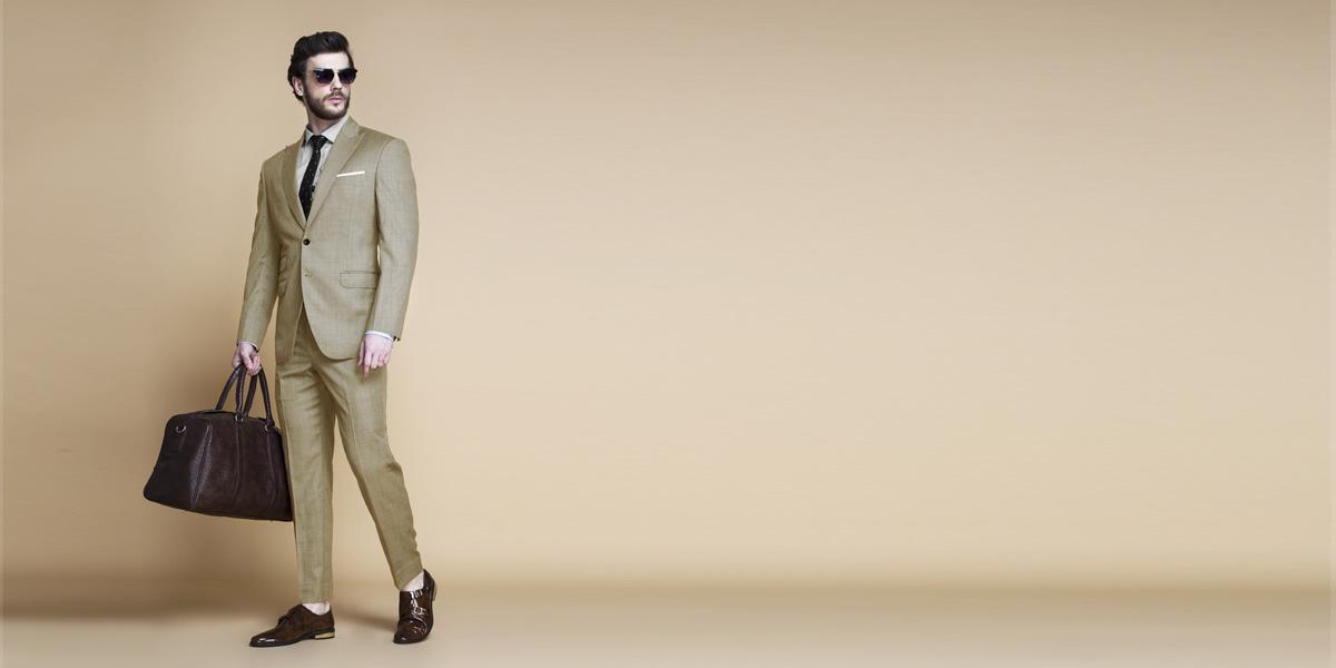 Heatbreaker Cool Sand Nailhead Suit- view-1