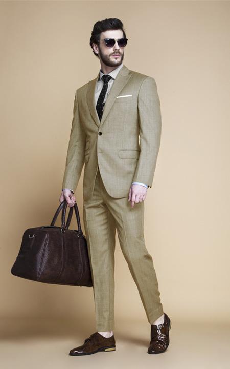 Heatbreaker Cool Sand Nailhead Suit