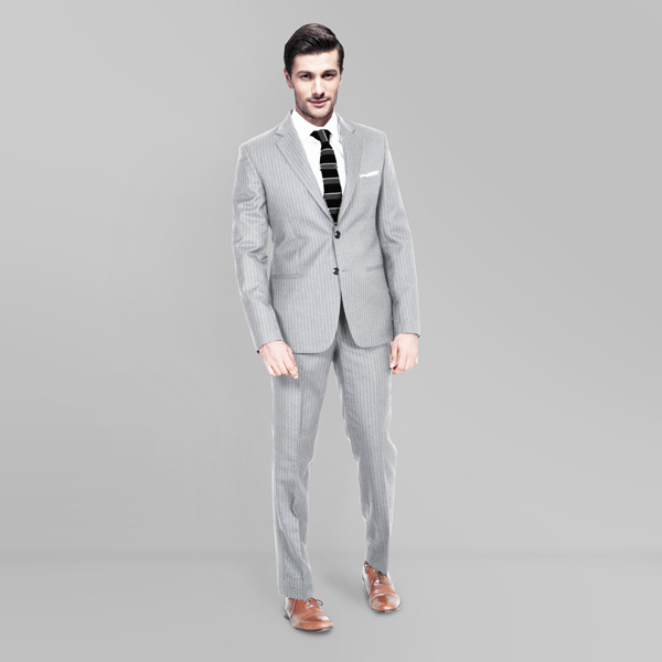 Light Grey Stripe Custom Suit-mbview-1