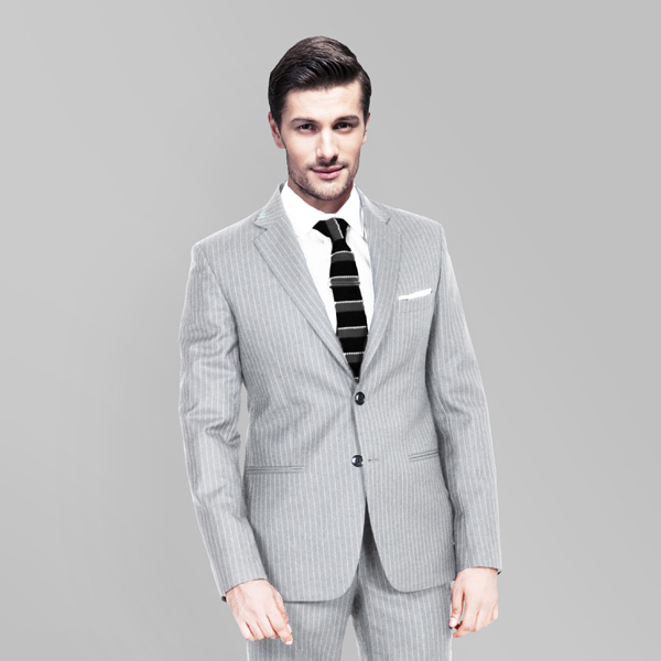 Light Grey Stripe Custom Suit-mbview-2