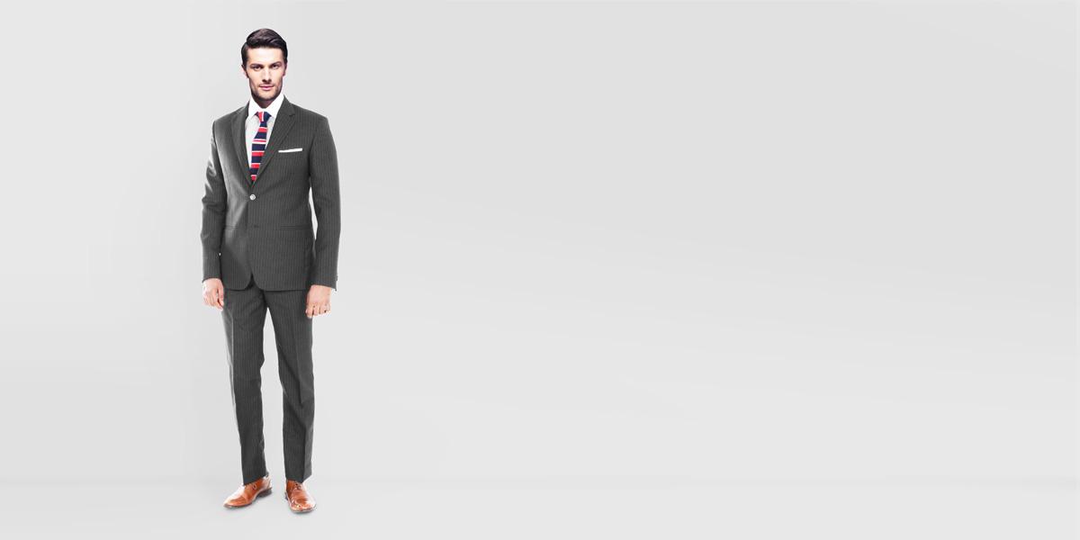 Charcoal Stripe Custom Suit- view-1