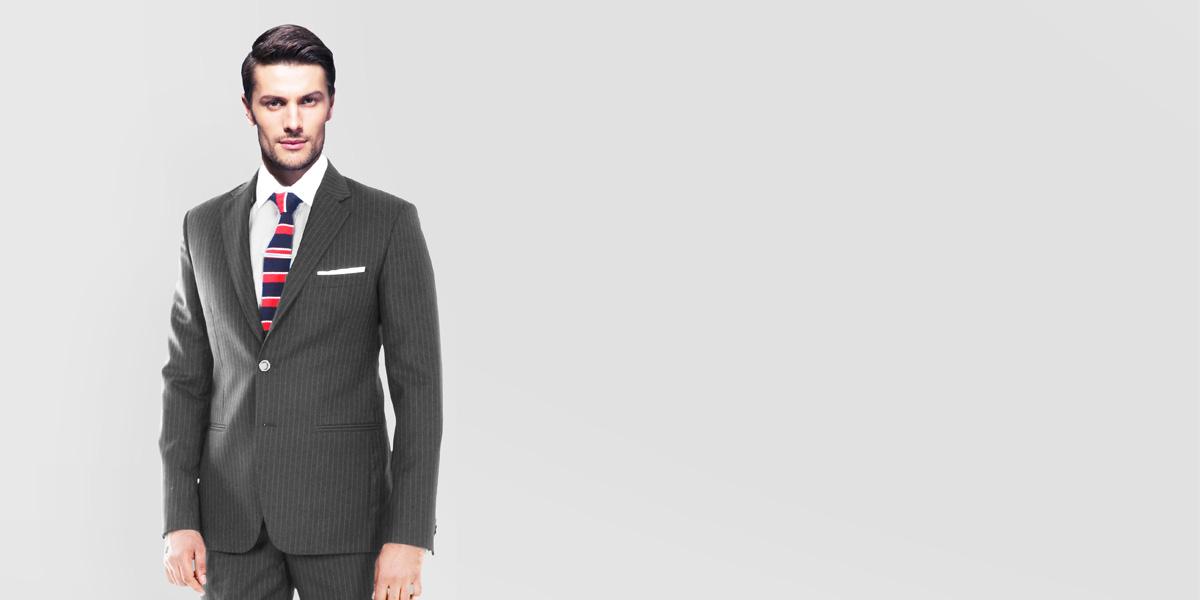 Charcoal Stripe Custom Suit- view-2