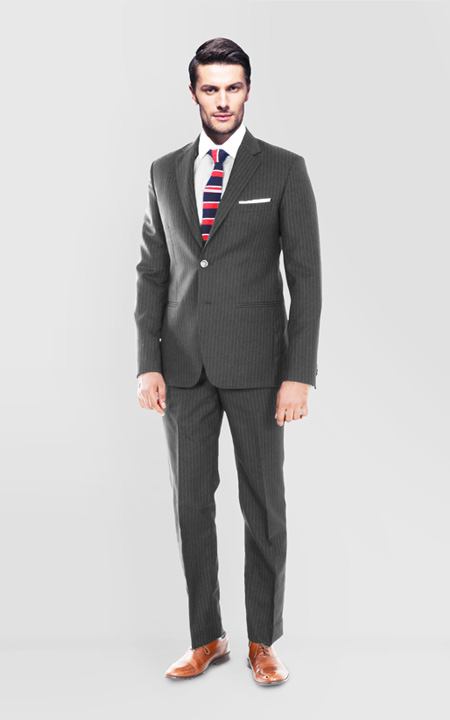 Charcoal Stripe Custom Suit