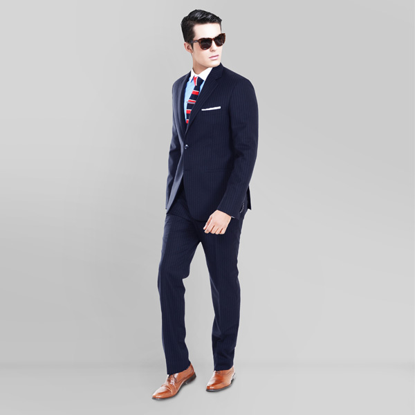 Navy Stripe Custom Suit-mbview-1