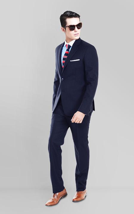 Navy Stripe Custom Suit