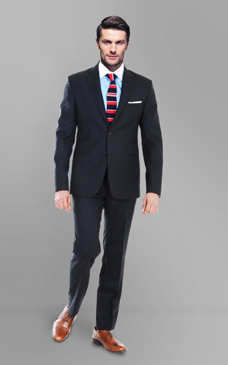 Black Stripe Custom Suit