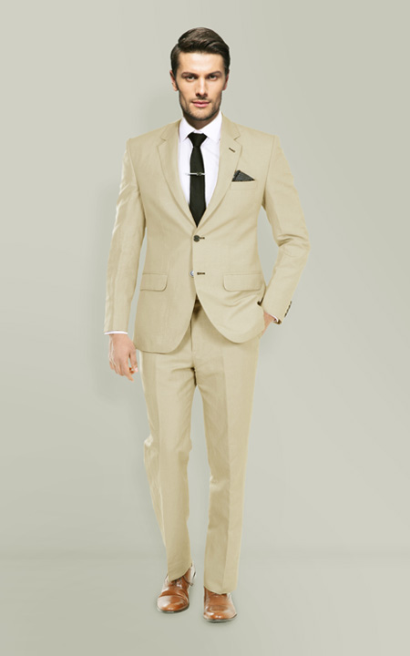 Camel Wool Custom Suit