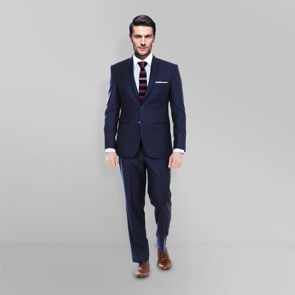 Sartorial Navy Herringbone Suit-mbview-1