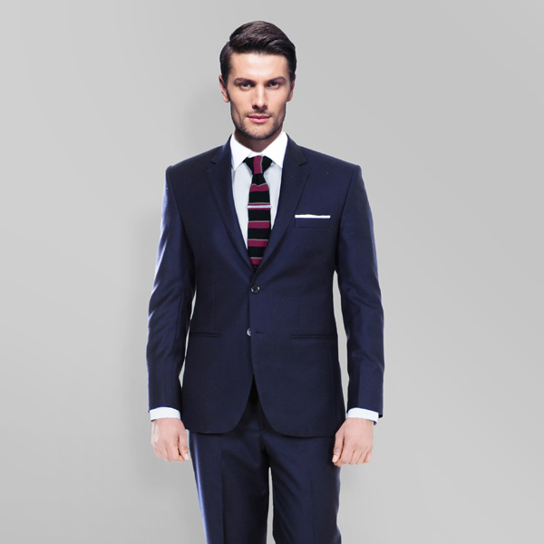 Sartorial Navy Herringbone Suit-mbview-2