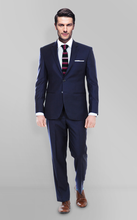 Sartorial Navy Herringbone Suit