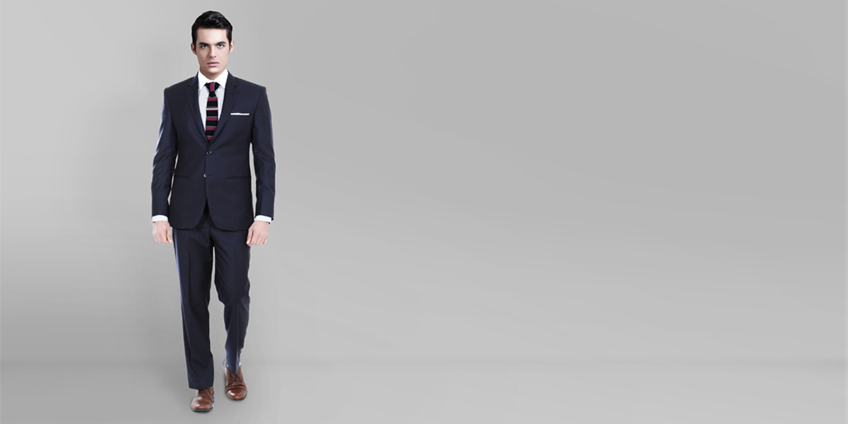 Classic Navy Blue Custom Suit- view-1
