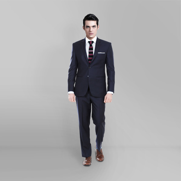 Classic Navy Blue Custom Suit-mbview-1