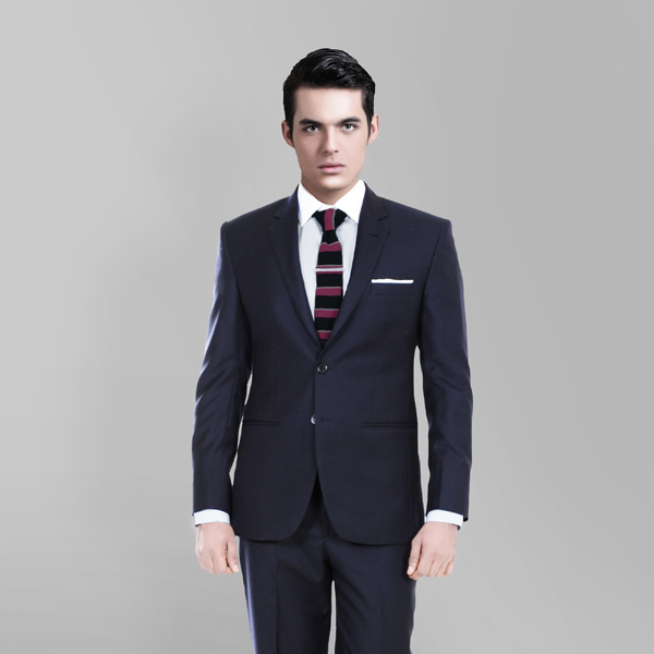 Classic Navy Blue Custom Suit-mbview-2