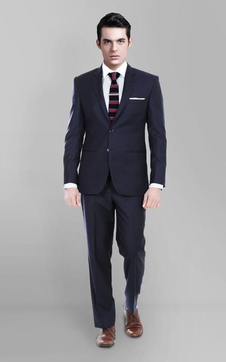 Classic Navy Blue Custom Suit