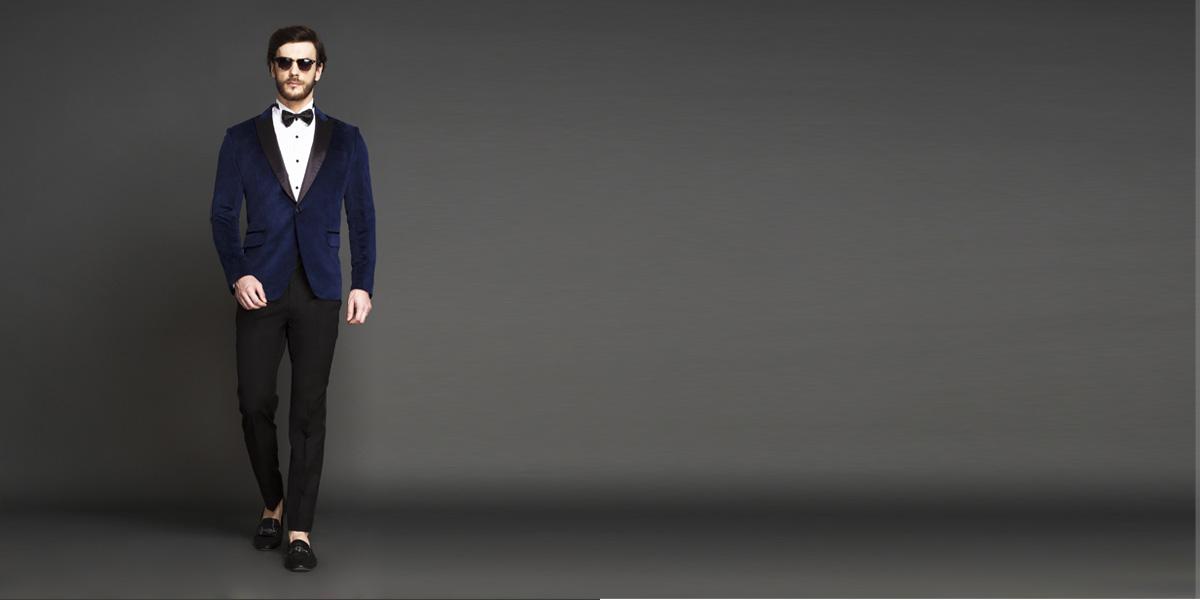 Rockefeller Blue Velvet Tuxedo- view-1