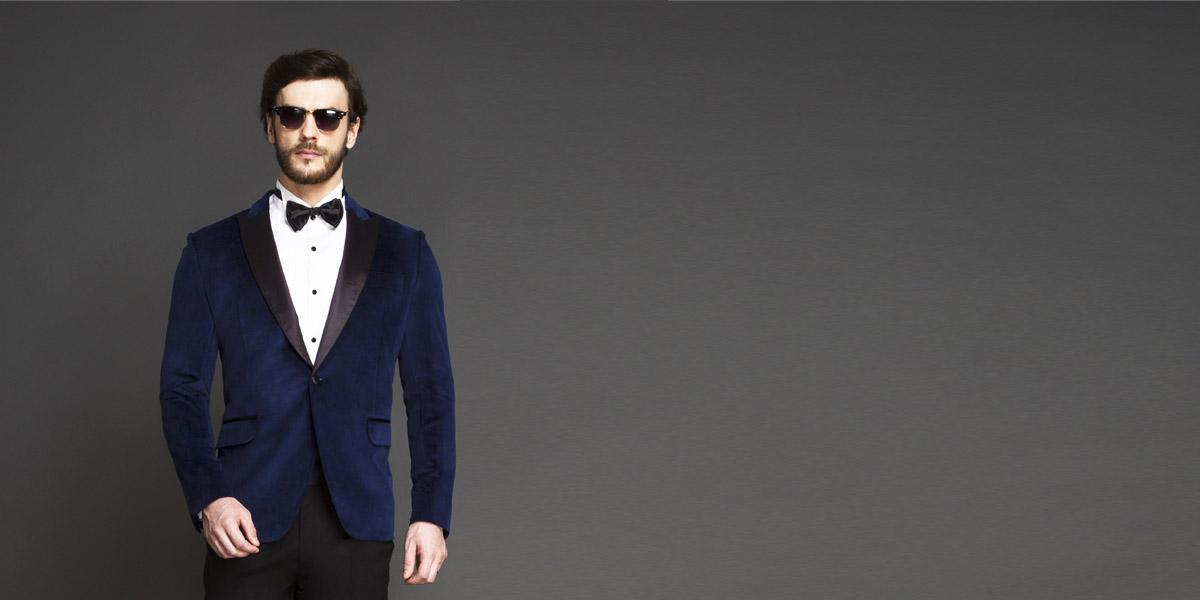 Rockefeller Blue Velvet Tuxedo- view-3